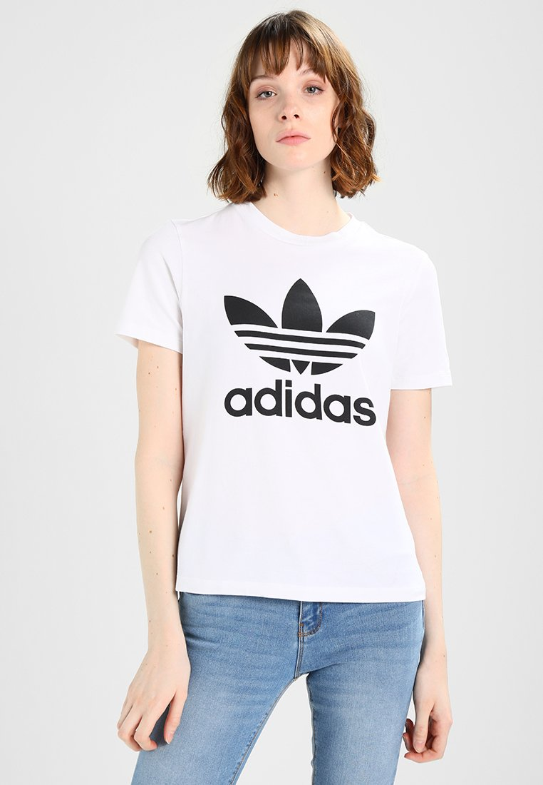 adidas Originals - ADICOLOR TREFOIL GRAPHIC TEE - T-shirt med print - white