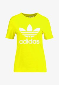 adidas Originals - ADICOLOR TREFOIL GRAPHIC TEE - T-shirt z nadrukiem - yellow