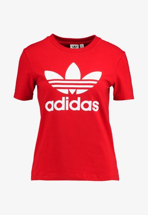 ADICOLOR TREFOIL GRAPHIC TEE - T-shirt med print - scarlet