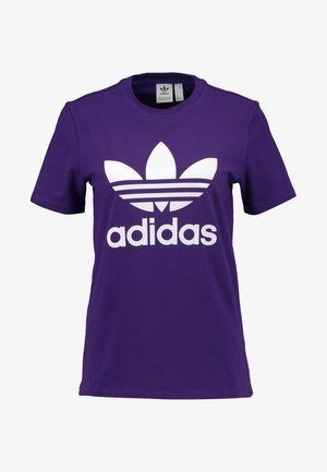 ADICOLOR TREFOIL GRAPHIC TEE - T-shirts med print - collegiate purple