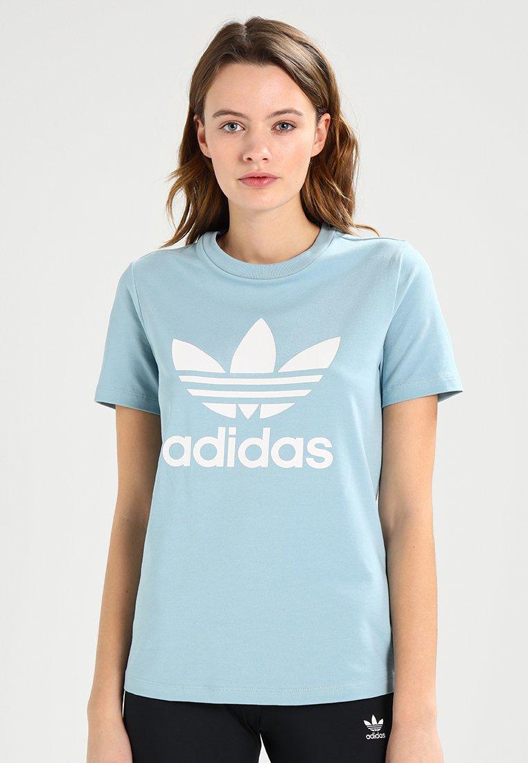 adidas Originals - TREFOIL TEE - Print T-shirt - light blue