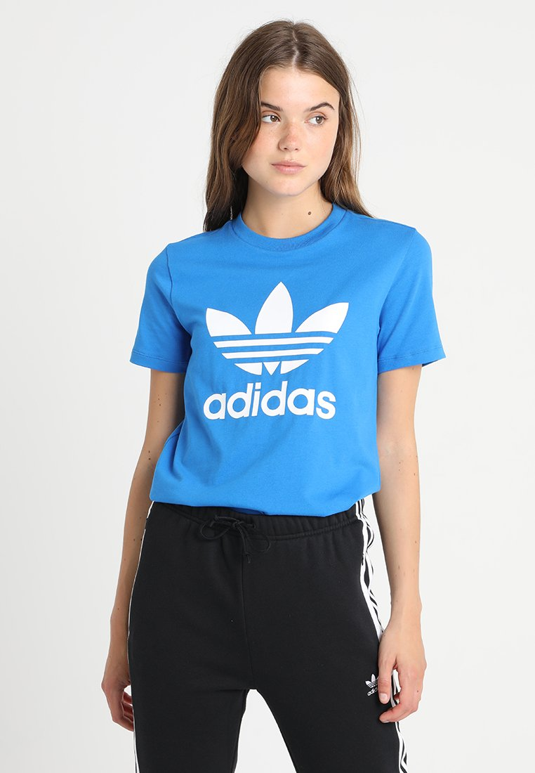 adidas Originals - ADICOLOR TREFOIL GRAPHIC TEE - T-shirts med print - bluebird