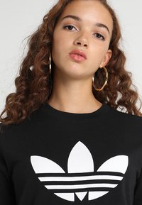 adidas Originals - ADICOLOR TREFOIL GRAPHIC TEE - T-shirt z nadrukiem - black - 4