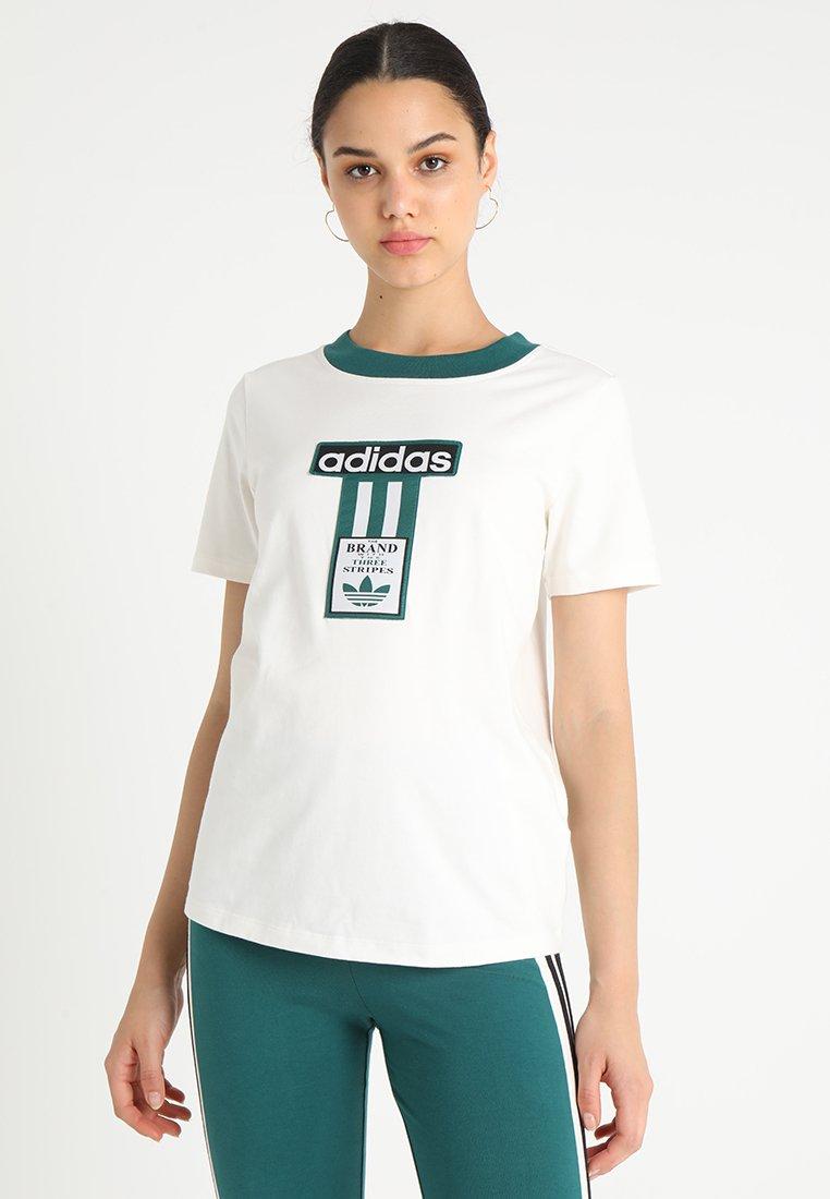 adidas Originals - T-shirt print - chalk white