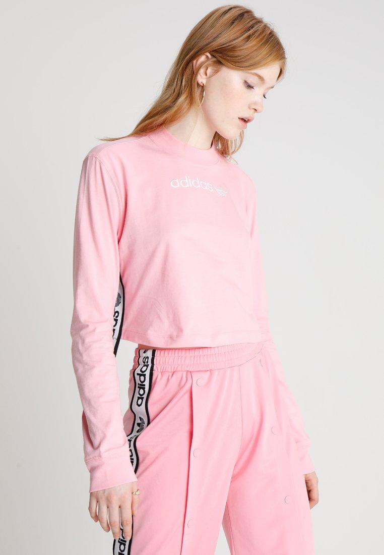 adidas Originals - TAPE LONGSLEEVE TEE - T-shirt à manches longues - light pink