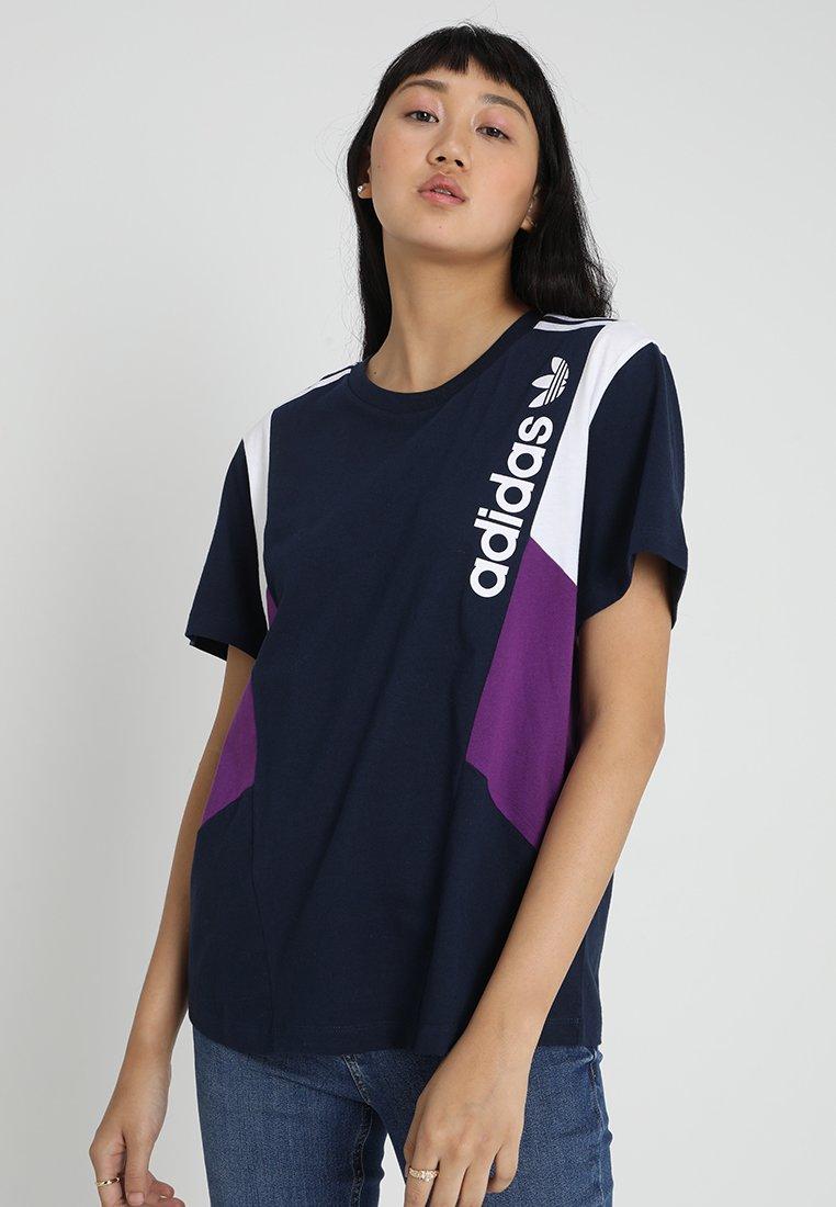 adidas Originals - TEE - T-shirt imprimé - collegiate navy