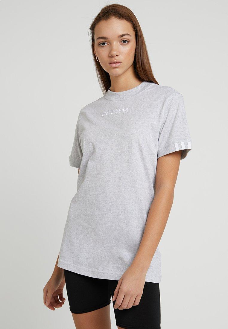 adidas Originals - COEEZE - Print T-shirt - light grey heather