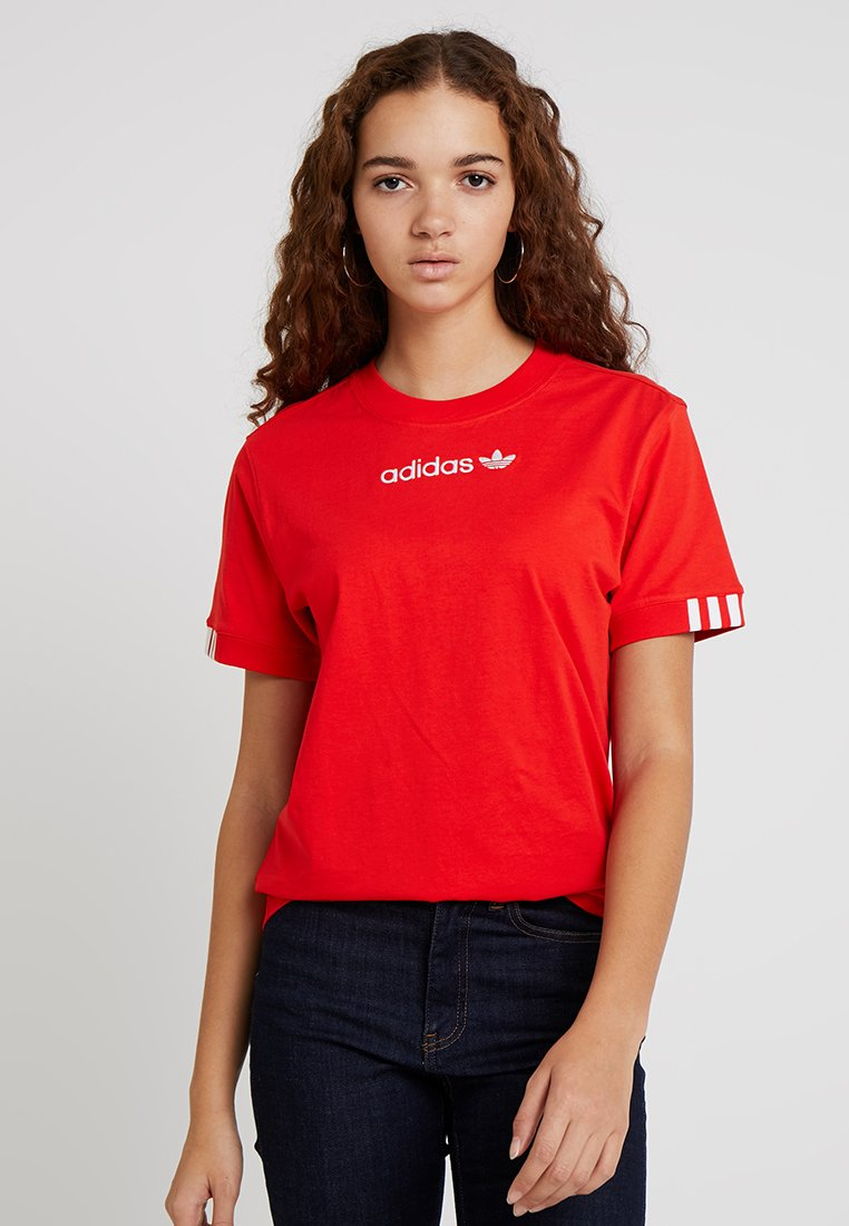 adidas Originals - COEEZE - T-Shirt print - active red