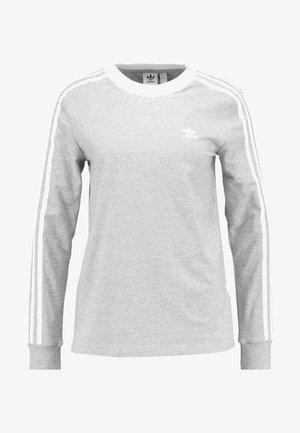 ADICOLOR 3 STRIPES LONGSLEEVE TEE - Long sleeved top - medium grey heather