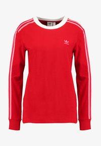 adidas Originals - ADICOLOR 3 STRIPES LONGSLEEVE TEE - Långärmad tröja - scarlet - 4