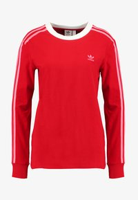 ADICOLOR 3 STRIPES LONGSLEEVE TEE T shirt à manches longues scarlet