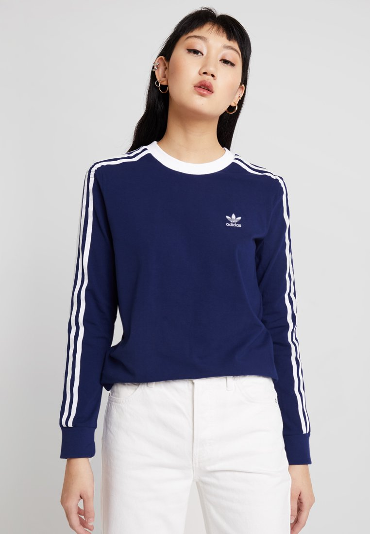adidas Originals - ADICOLOR 3 STRIPES LONGSLEEVE TEE - Camiseta de manga larga - dark blue