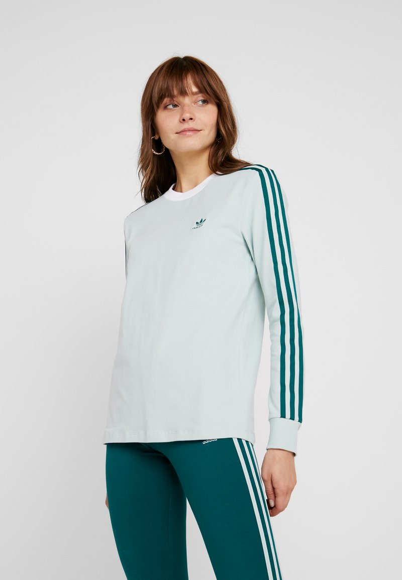 adidas Originals - ADICOLOR 3 STRIPES LONGSLEEVE TEE - Bluzka z długim rękawem - vapour green