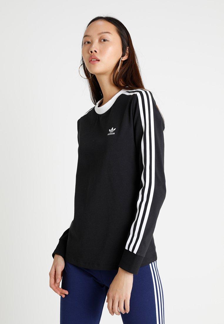 adidas Originals - ADICOLOR 3 STRIPES LONGSLEEVE TEE - Top sdlouhým rukávem - black