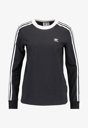 ADICOLOR 3 STRIPES LONGSLEEVE TEE - Longsleeve - black