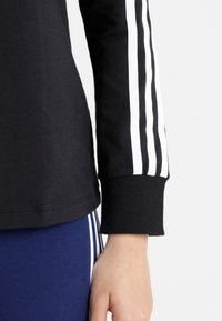 adidas Originals - ADICOLOR 3 STRIPES LONGSLEEVE TEE - Langarmshirt - black