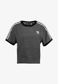 adidas Originals - STRIPES TEE - Blůza - black/white