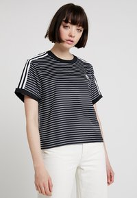 adidas Originals - STRIPES TEE - Blůza - black/white - 0