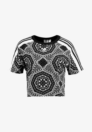 CROP TEE - Print T-shirt - black