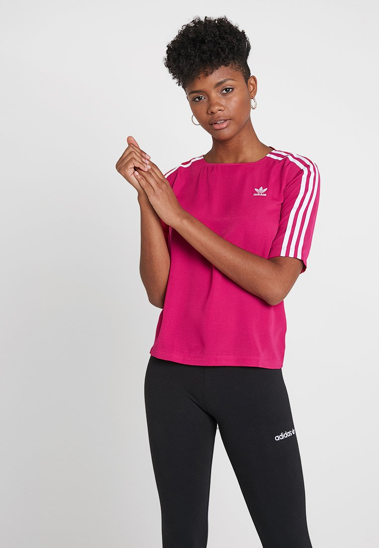adidas Originals - 3 STRIPES TEE - Blusa - pride pink
