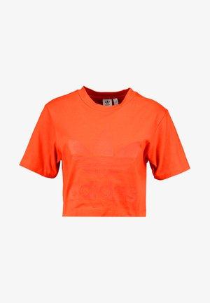 CROPPED TEE - T-shirts med print - craft orange