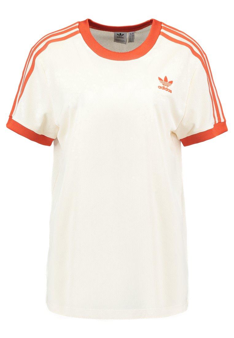 adidas Originals - 3 STRIPES TEE - Print T-shirt - ecru tint