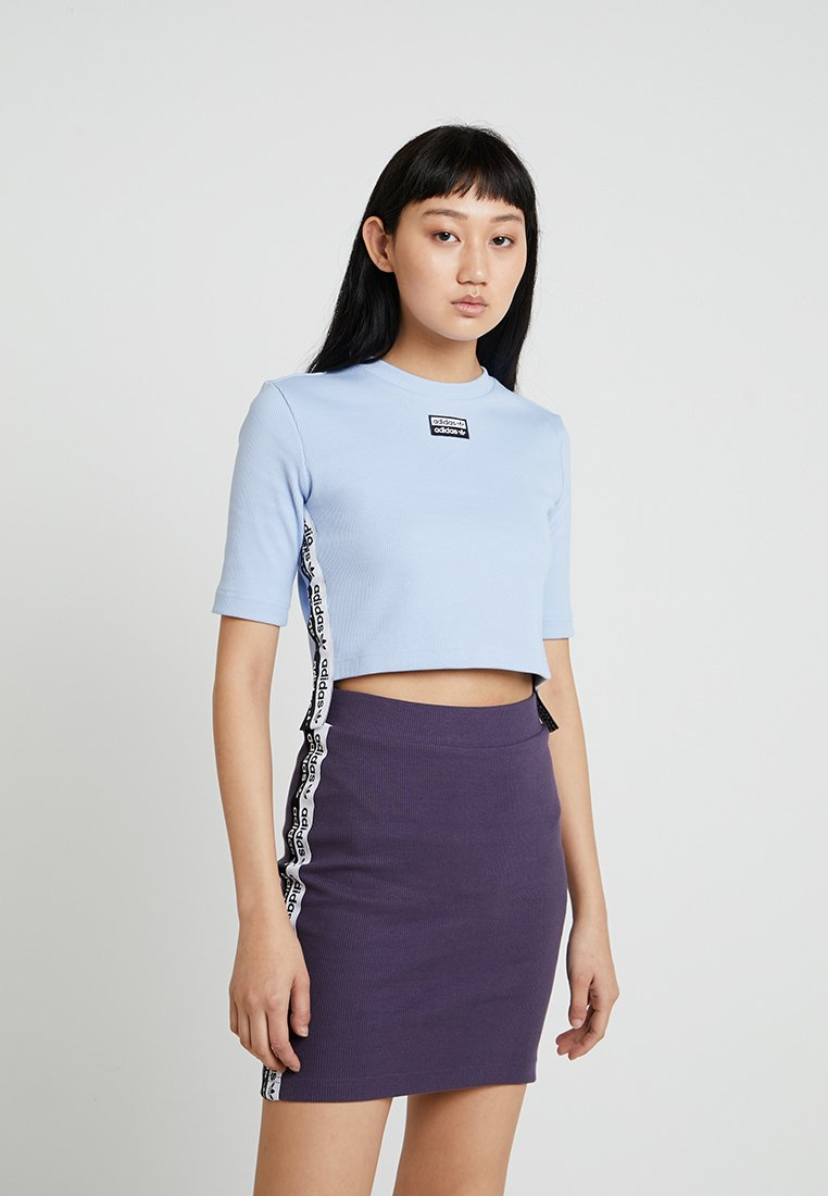 adidas Originals - CROPPED TEE - T-shirts print - periwinkle