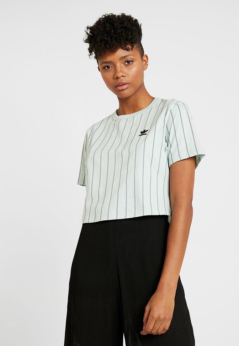 adidas Originals - CROP TEE - T-shirt print - vapour green
