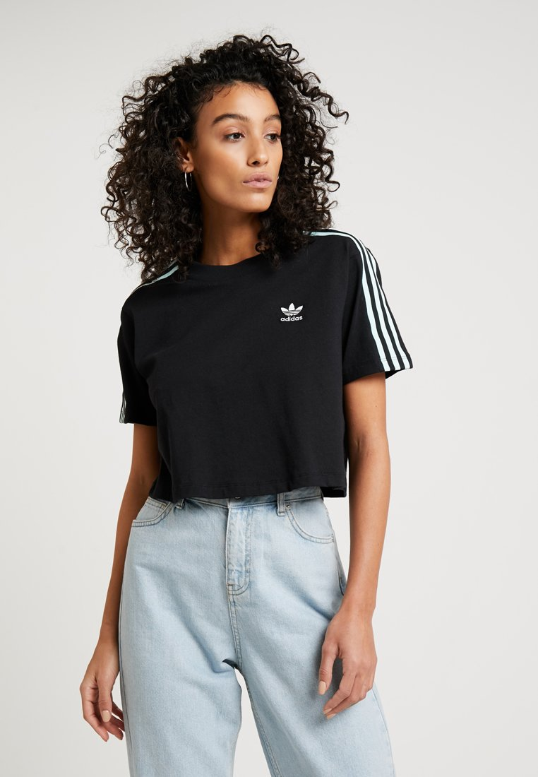 adidas Originals - CROPPED TEE - T-Shirt print - black