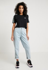 adidas Originals - CROPPED TEE - T-Shirt print - black - 1