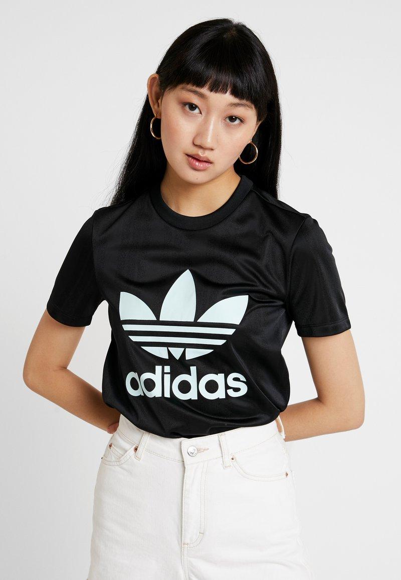 adidas Originals - TREFOIL TEE - Print T-shirt - black/icemint