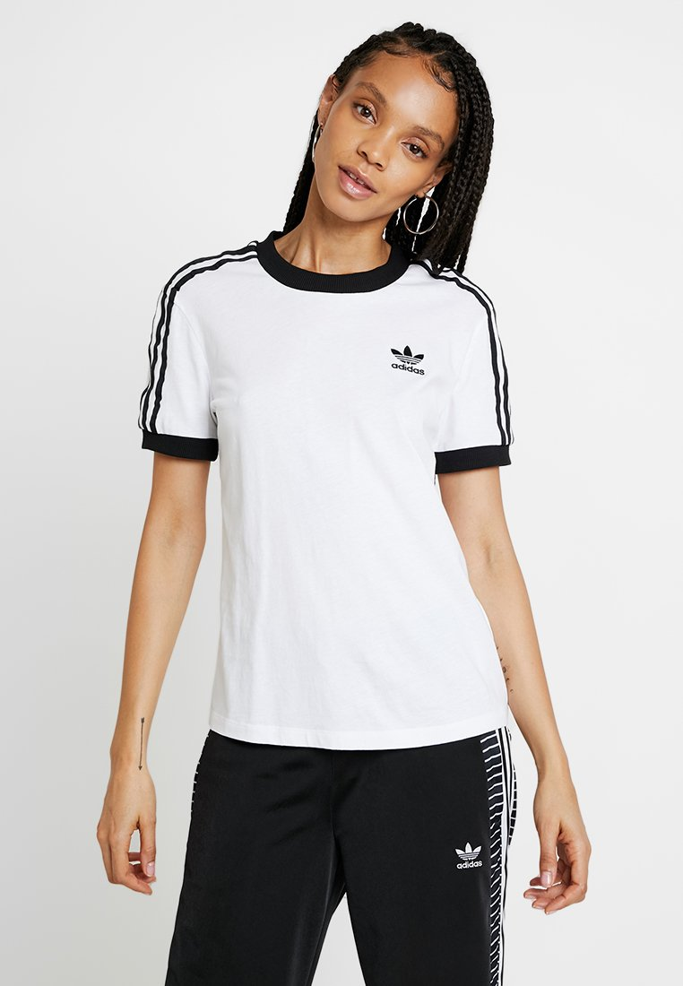 adidas Originals - ADICOLOR 3 STRIPES TEE - T-shirt imprimé - white