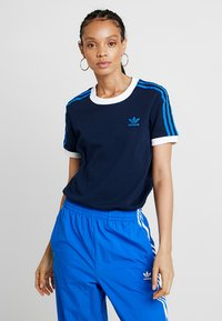 adidas Originals - STRIPES TEE - T-shirt print - collegiate navy - 0