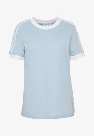 STRIPES TEE - Print T-shirt - clear sky/white