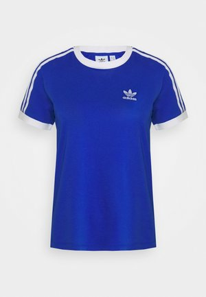 ADICOLOR  STRIPES SHORT SLEEVE TEE - Printtipaita - team royal blue/white