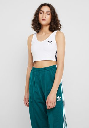 ADICOLOR 3 STRIPES CROPPED TANK - Linne - white