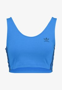 adidas Originals - ADICOLOR 3 STRIPES CROPPED TANK - Toppe - bluebird - 4