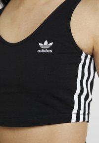 adidas Originals - ADICOLOR 3 STRIPES CROPPED TANK - Linne - black - 5