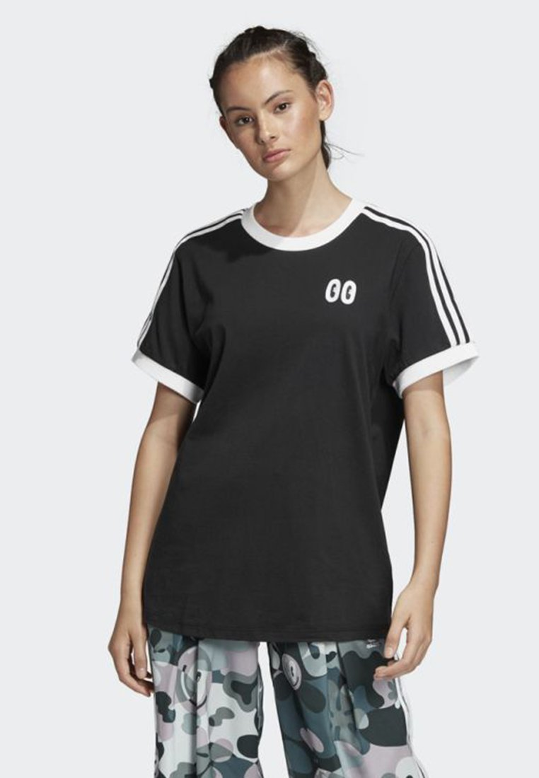 adidas Originals - 3-STRIPES TEE - T-shirt con stampa - black