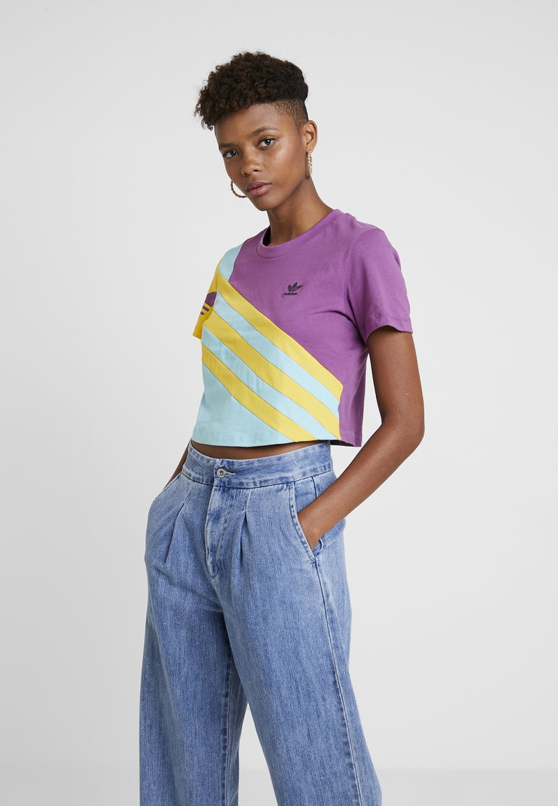 adidas Originals - TEE - T-shirt imprimé - rich mauve
