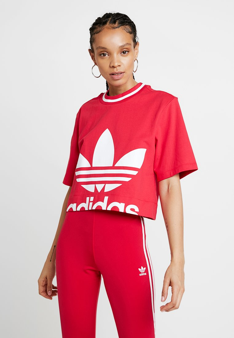 adidas Originals - BELLISTA TREFOIL CROPPED GRAPHIC TEE - T-shirt imprimé - energy pink