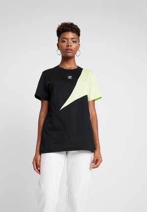 COLOUR BLOCKING DESIGN BOYFRIEND TEE - Camiseta estampada - black