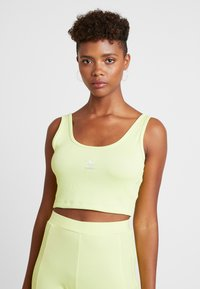 adidas Originals - CROPPED TANK - Top - semi frozen yellow - 0