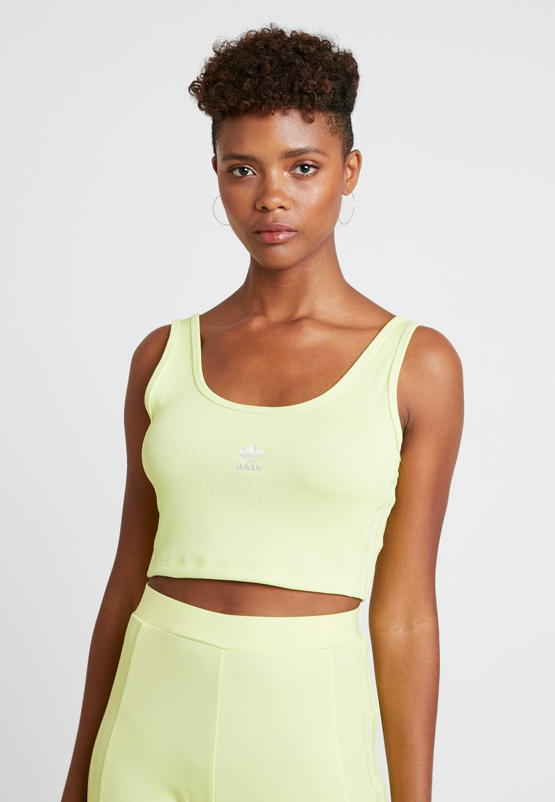 adidas Originals - CROPPED TANK - Top - semi frozen yellow