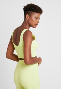 adidas Originals - CROPPED TANK - Top - semi frozen yellow - 2