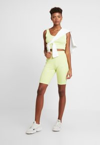 adidas Originals - CROPPED TANK - Top - semi frozen yellow - 1