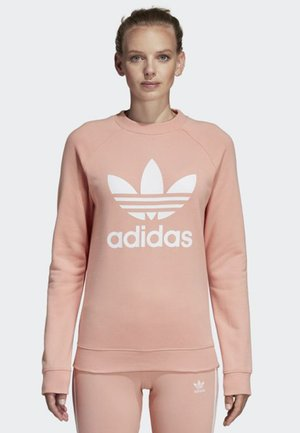 TREFOIL CREWNECK SWEATSHIRT - Sweatshirt - pink