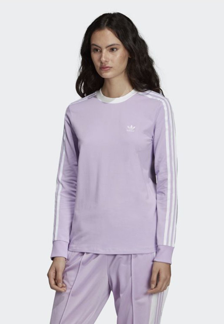 adidas Originals - 3-STRIPES LONG-SLEEVE TOP - Long sleeved top - purple