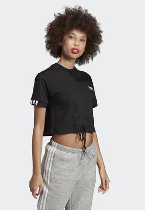 RUCHED T-SHIRT - T-shirts med print - black