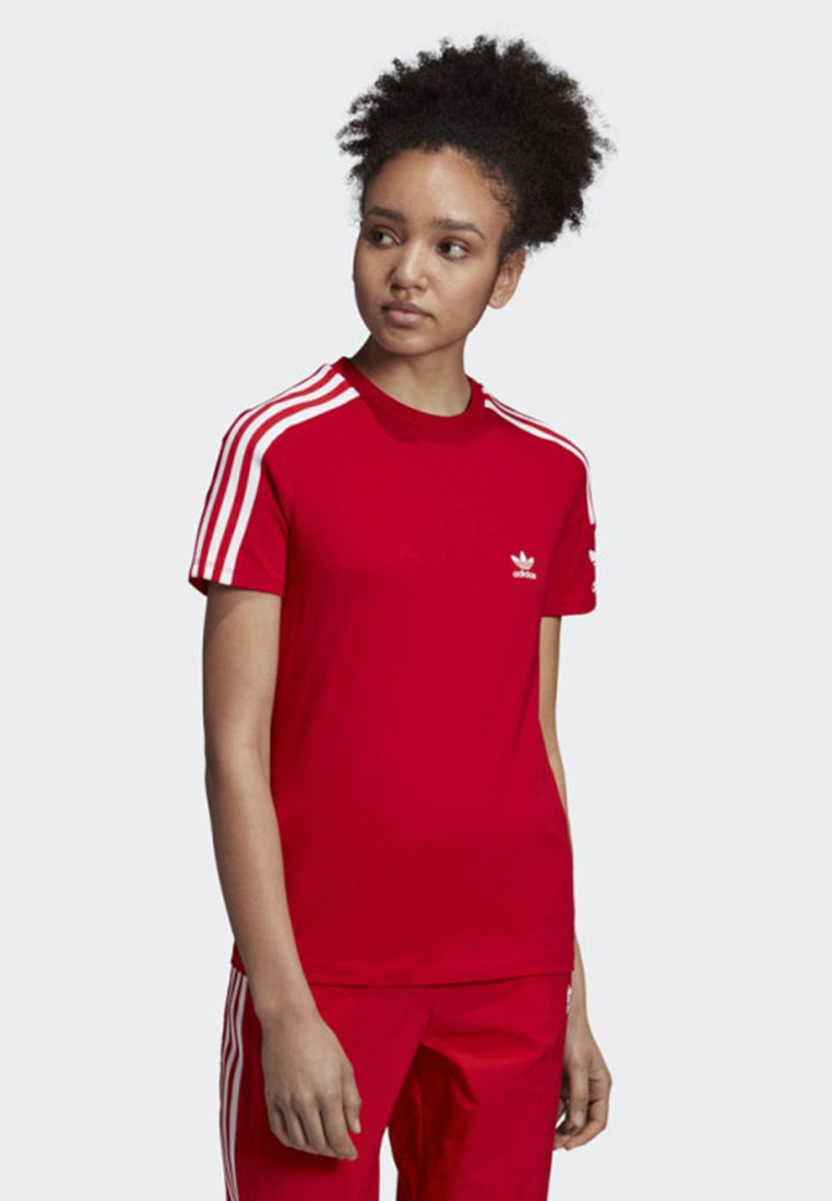 adidas Originals - 3-STRIPES T-SHIRT - Print T-shirt - red